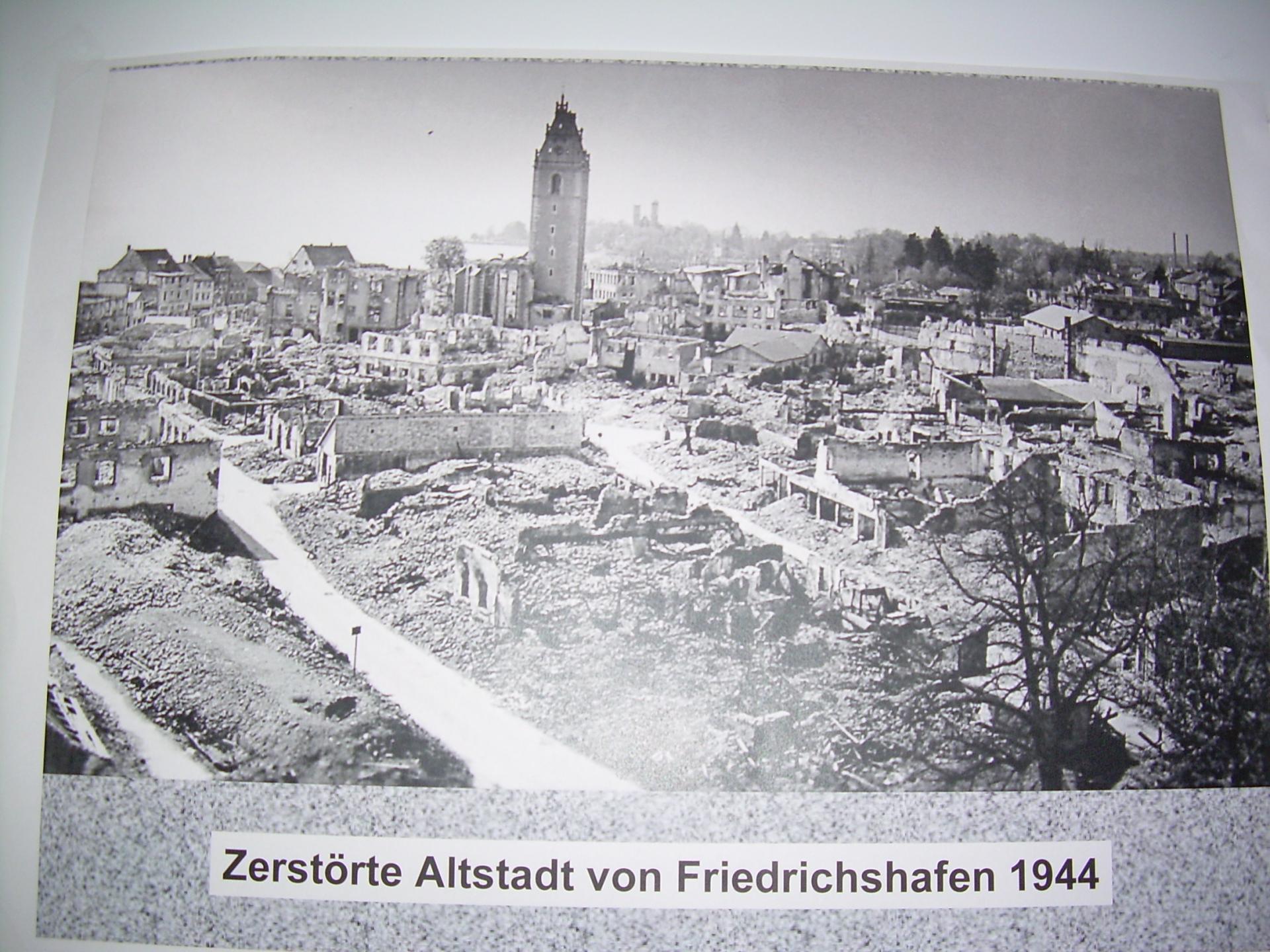 Friedrichshafen zerstort