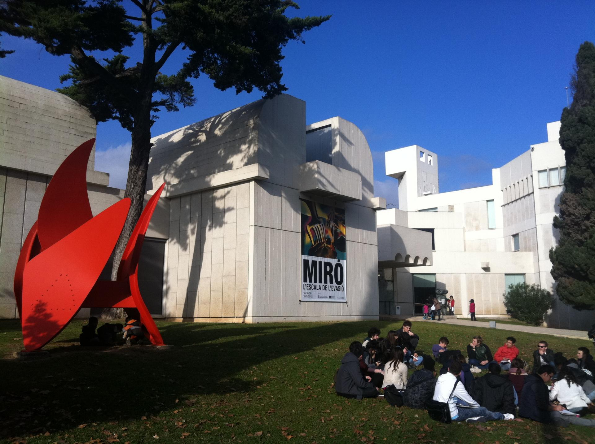 Joan miro outdoors view